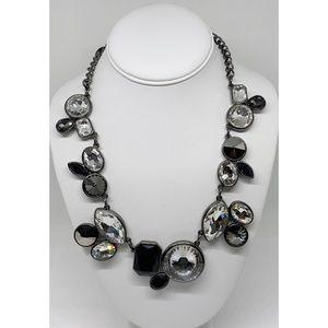 White House Black Market Black & Crystals Necklace